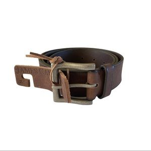James Campbell Leather Brown Belt Size 34 NWT